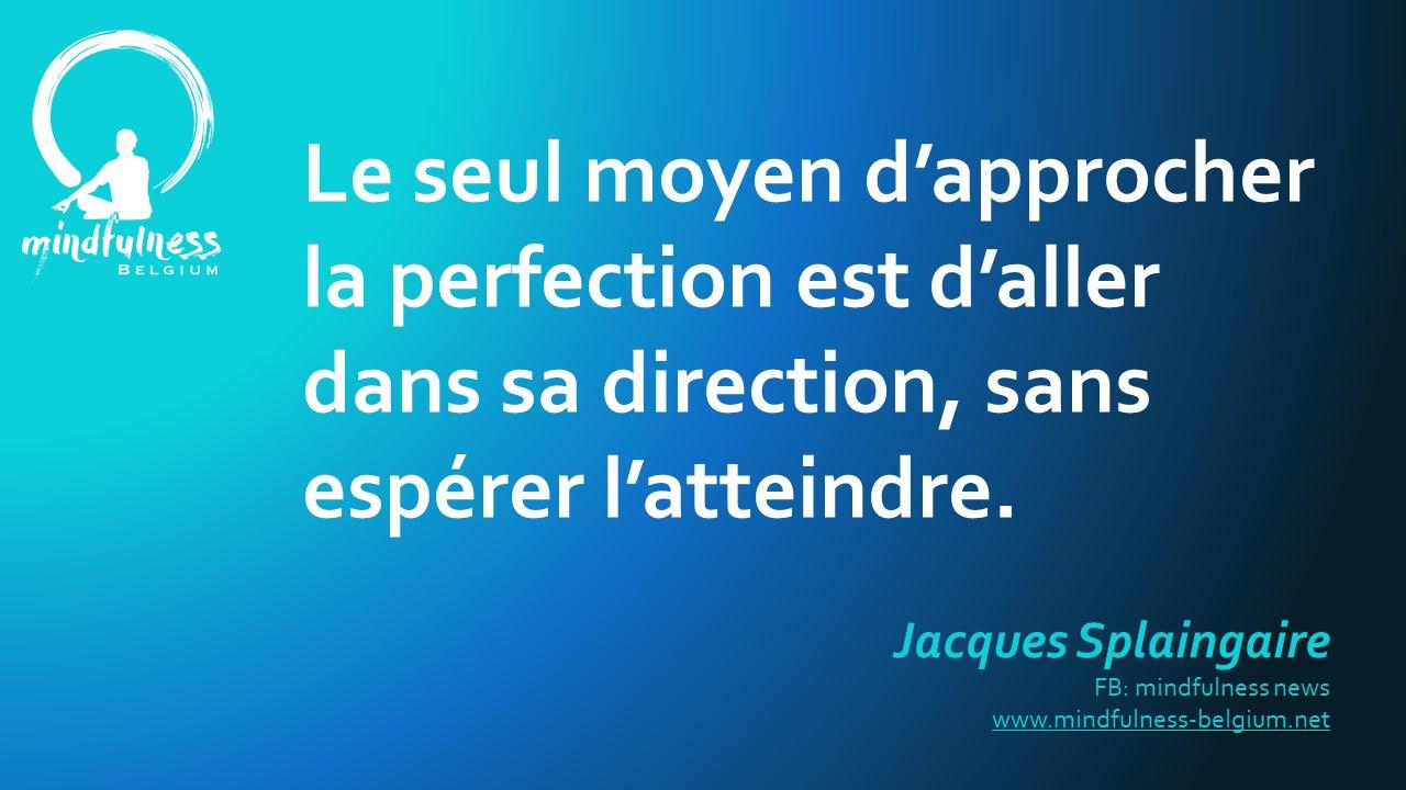 Les objectifs et la perfection